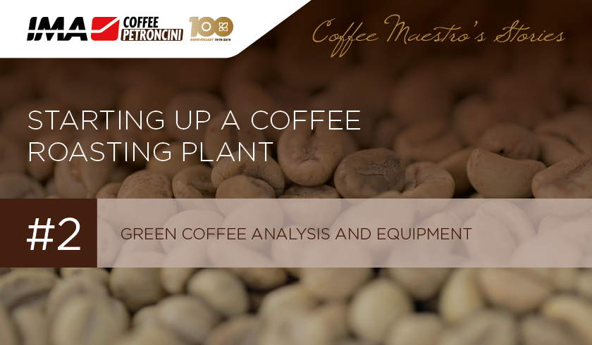 Green coffee analysis and equipment