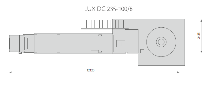LUX DD 235-100/8 Layout