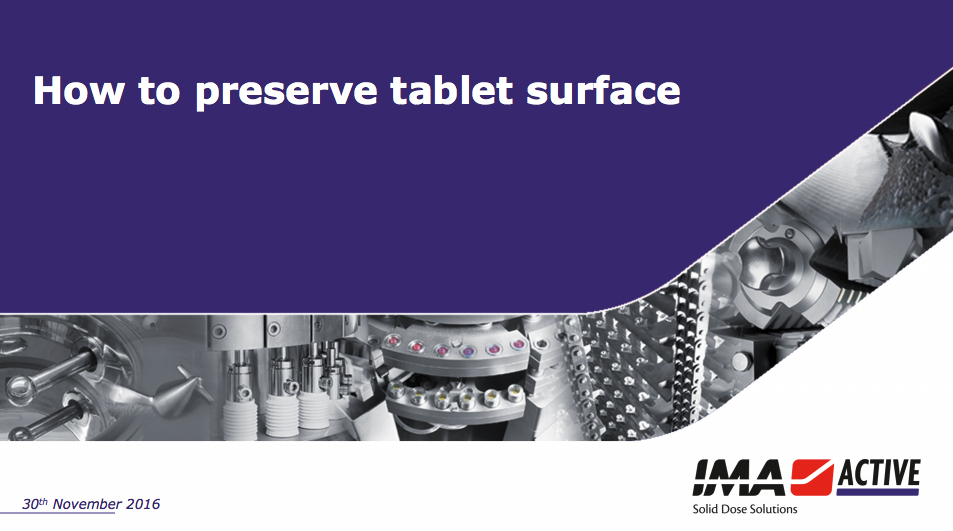Download slides: How to preserve tablet surface