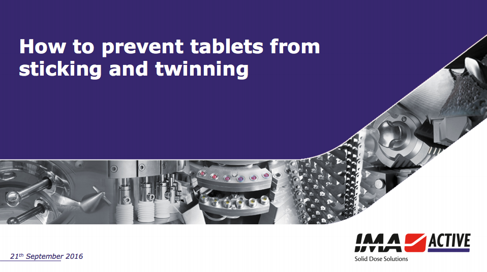 Download slides: How to prevent tablets from sticking and twinning