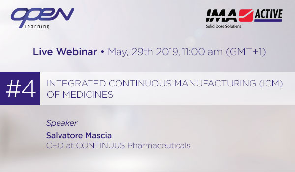 Integrated Continuous Manufacturing (ICM) of medicines