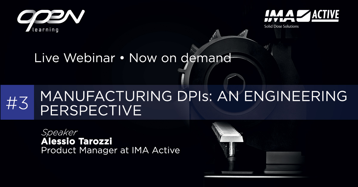 Manufacturing DPIs: an engineering perspective